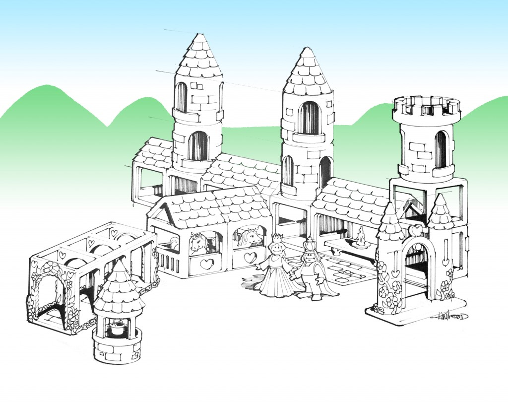 Castle Building Blocks Concept